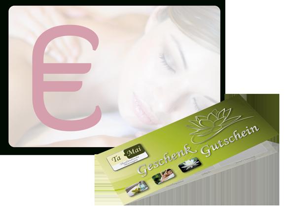 Massage-Wertgutschein mit Betrag